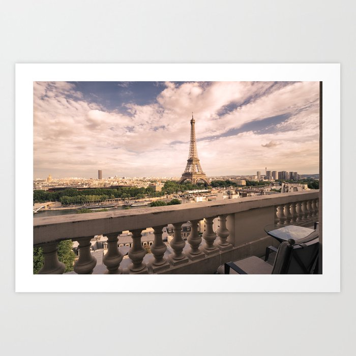 Paris - Eiffel Tower and Cityscape - Afternoon Art Print
