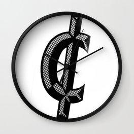 cents Wall Clock