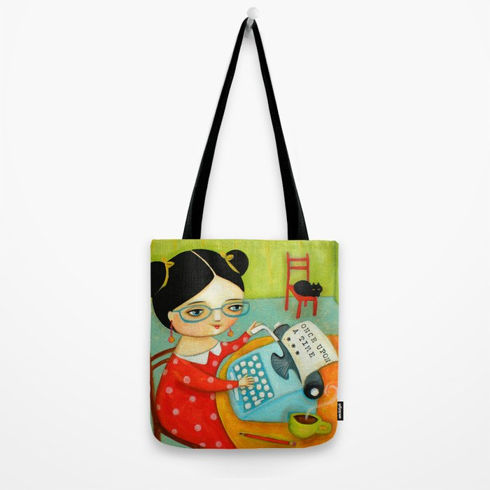 The writer of stories Tote Bag