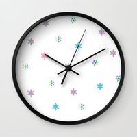 snowflake Wall Clocks featuring Snowflake by FACTORIE
