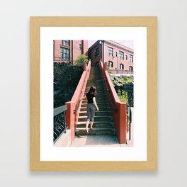 City Stairs Framed Art Print