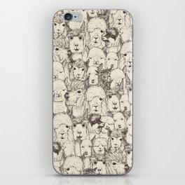 just alpacas natural iPhone Skin