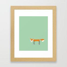 Cute little red fox foxy ladie Framed Art Print