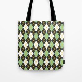 Argyle pattern Tote Bag