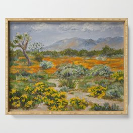 California Poppies and Wildflowers Serving Tray
