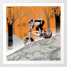 downhill Art Print