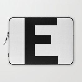 Letter E (Black & White) Laptop Sleeve