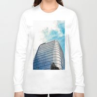 building Long Sleeve T-shirts featuring Big Building by Mauricio Santana