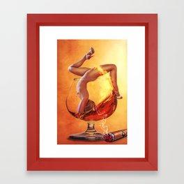 Girl in Glass Framed Art Print