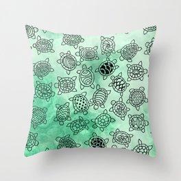 Turtle Patterns Throw Pillow