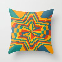 trippy Throw Pillows featuring Trippy by Ashley