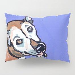 Happy Marvelous Mystery Mutt Dog Portrait Pillow Sham