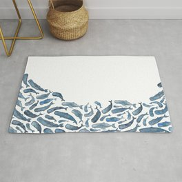 Whale Wave.  Rug