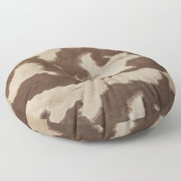 Brown and white cowhide 3 Floor Pillow