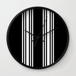 Black and white modern stripe pattern 02 Wall Clock