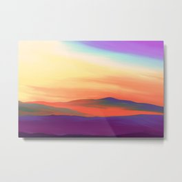 Painting of a Landscape in Surreal Colors Metal Print