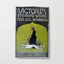 Vintage French Bicycle Poster Metal Print