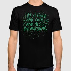 Life is Everything Black MEDIUM Mens Fitted Tee