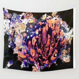 Marble Pool - Mixed Media Pebeo Ceramic Abstract Modern Art, 2015 Wall Tapestry