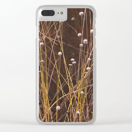 Silver buttons Clear iPhone Case
