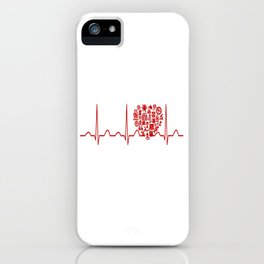 Chemistry Teacher Heartbeat iPhone Case