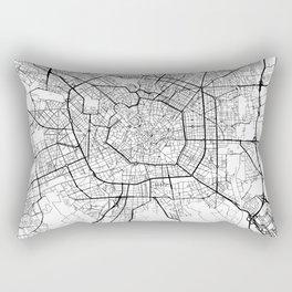 Milan Map White Rectangular Pillow