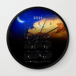 Moon Calendar 2021 (Moon phases 2021) - #3 Wall Clock