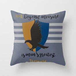 Ravenclaw Wit Beyond Measure Throw Pillow