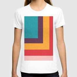 Abstract Mod Cube Teal  #midcenturymodern T-shirt