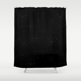 Golden Sparkles Shower Curtain