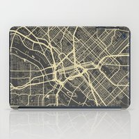 dallas iPad Cases featuring Dallas map by Map Map Maps