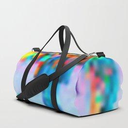 Colorful Pixel Art Print Duffle Bag