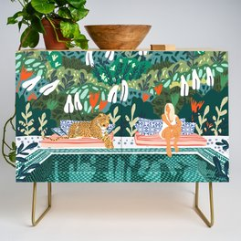Chilling || #illustration #painting Credenza