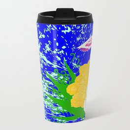 simurgh floral  Metal Travel Mug