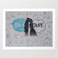 okay Art Prints featuring Okay.  by Oksana's Art
