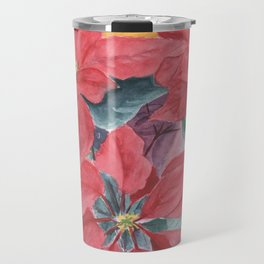 Poinsettia 2 Travel Mug