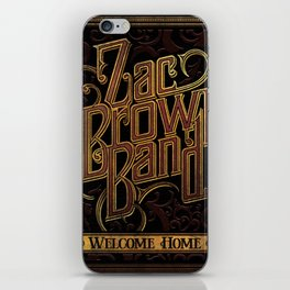 zac brown band best tour 2019 bantal iPhone Skin