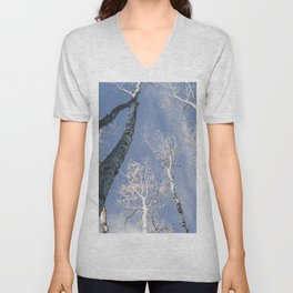 Aspen Tree Sky Unisex V-Neck