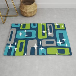 Mid Century Modern Geometric Abstract 190 Rug