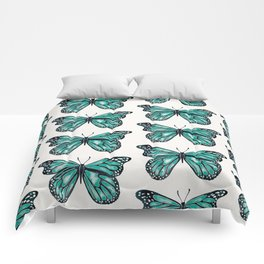 Turquoise Butterfly Comforters