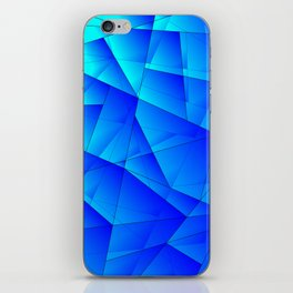 Bright sea pattern of heavenly and blue triangles and irregularly shaped lines. iPhone Skin