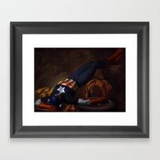 Death of Captain America Framed Art Print