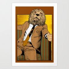 Pride of Lion Art Print