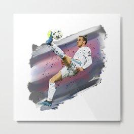 Watercolor Bale Metal Print