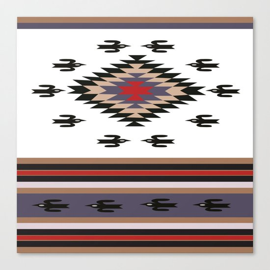 American Native Pattern No. 23 Canvas Print