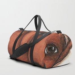 Dachshund on the pillow Duffle Bag