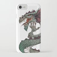 dragon iPhone & iPod Cases featuring dragon by Erdogan Ulker