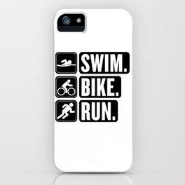 Swim Bike Run Block 2 iPhone Case