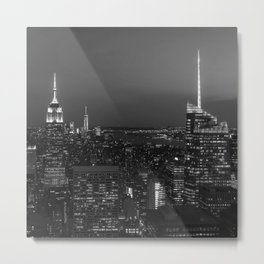 The Empire State and the city. Black & white photography Metal Print