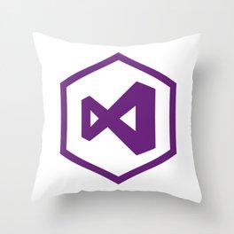 visual studio logo sticker C# developers Throw Pillow